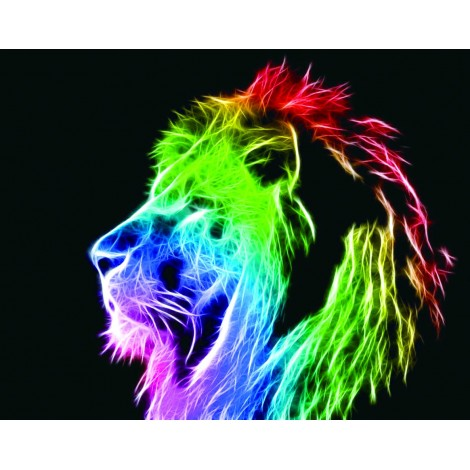 Abstract Colorful Lion 5D DIY Diamond Painting