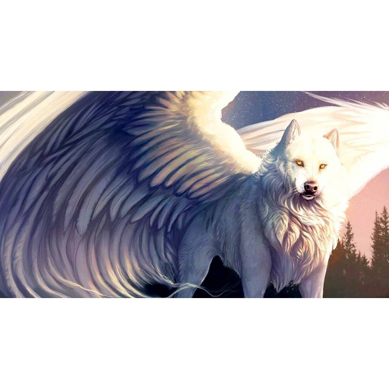 Wolf With Wings 5D D...