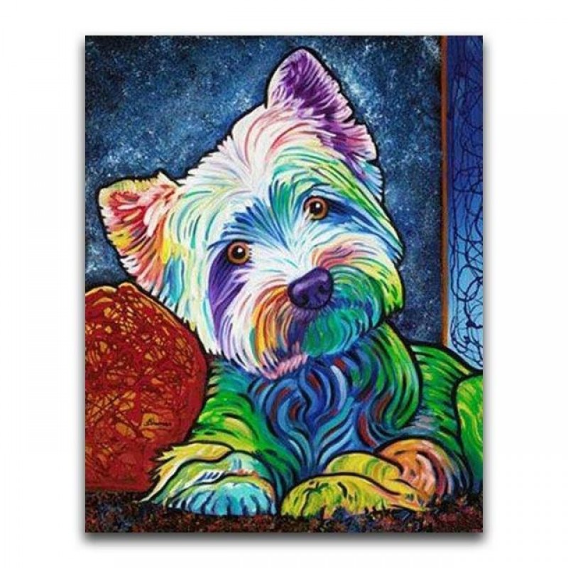 Cute Colorful Dog 5d...