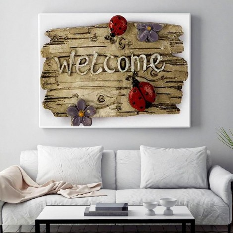 Hot Sale Letter Welcome Pattern 5D Diy Diamond Painting Kits UK