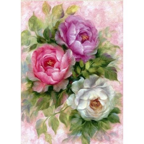 Colorful Flowers 5D Diy Diamond Painting Kits Uk
