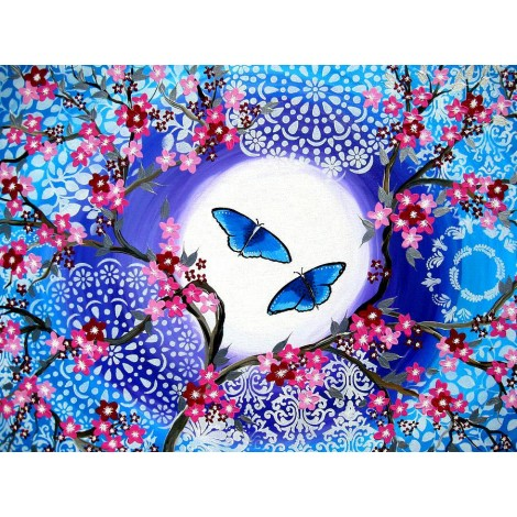 Butterflies Flowers 5D DIY Diamond Painting